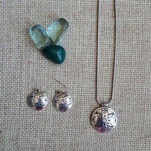 NWOT Brighton Necklace w/earrings